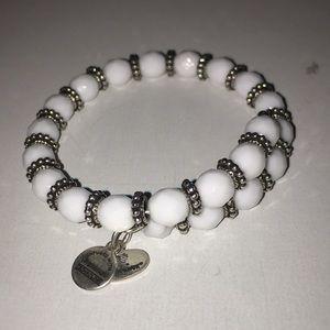 Alex and Ani white bracelet